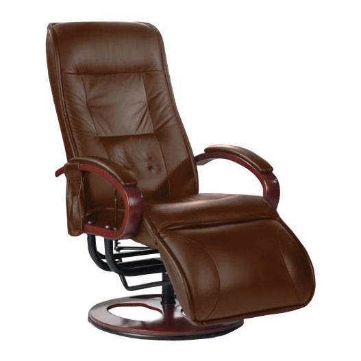 Brisa Faux Leather Massage Recliner in Brown 2401830