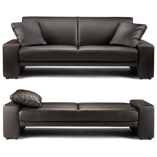 brown leather sofa bed supra - Review of Small Sofas For Small Spaces