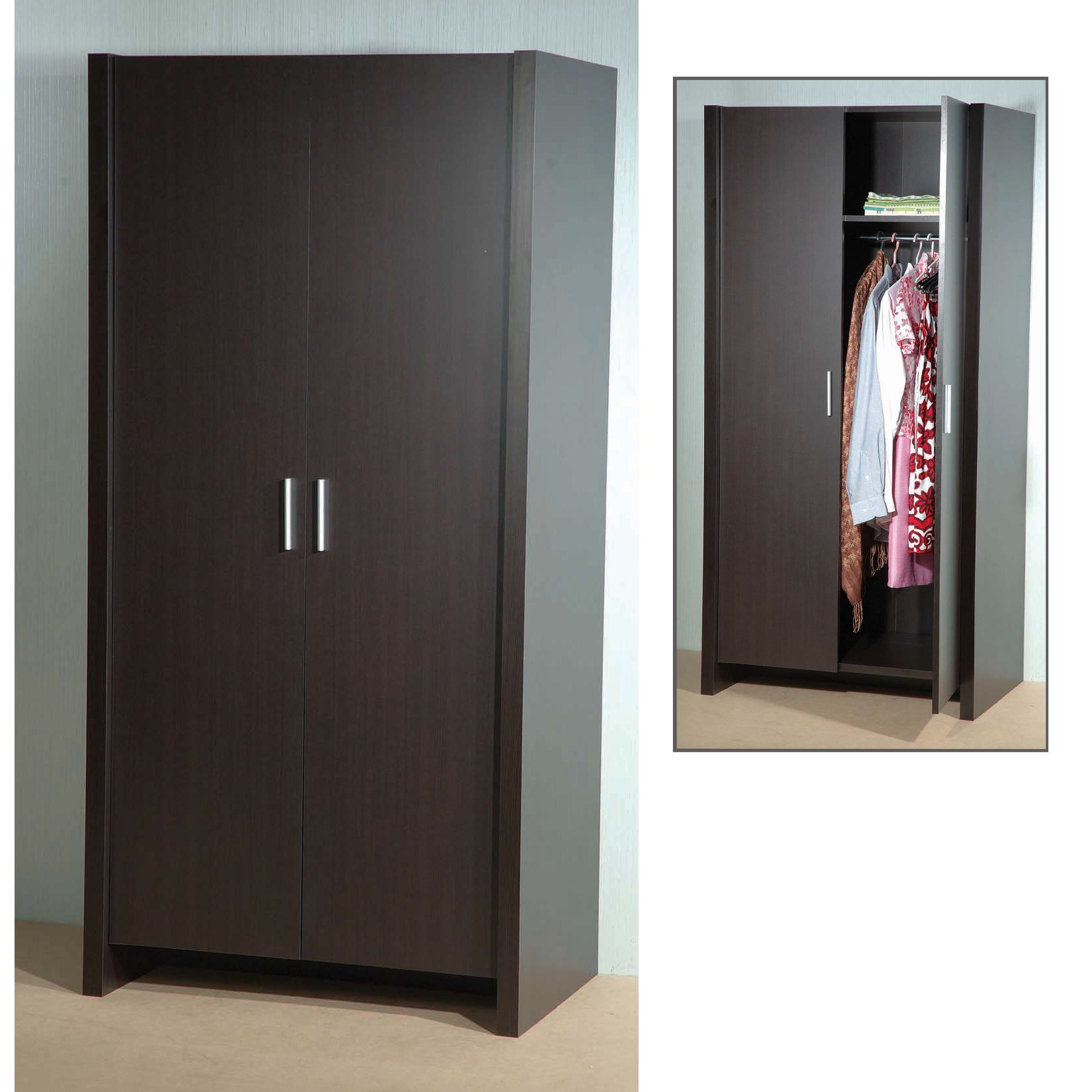 Dano 2 Door Wardrobe In Expresso Brown 5073 Furniture IN Fas