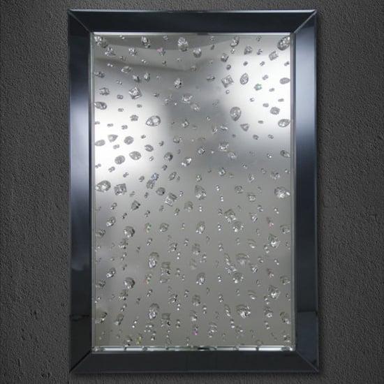 Product photograph showing Brunsveld Designer Rectangular Wall Mirror