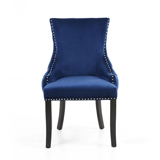 Brusel Accent Chair In Brushed Velvet Ocean Blue With Black Legs_4