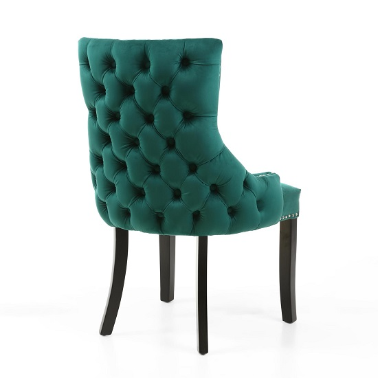Brusel Accent Chair In Brushed Velvet Green With Black Legs_2