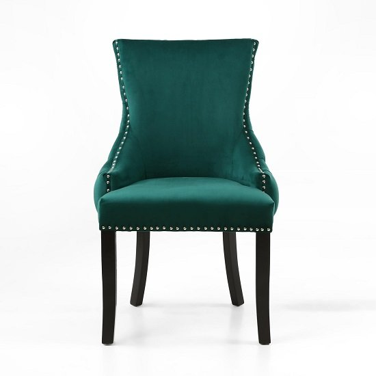 Brusel Accent Chair In Brushed Velvet Green With Black Legs_4