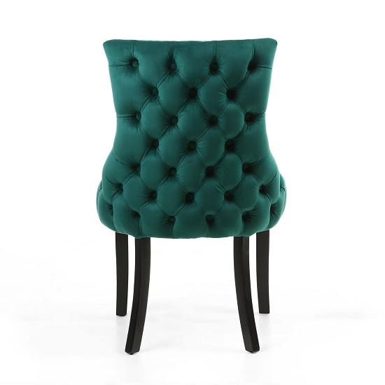 Brusel Accent Chair In Brushed Velvet Green With Black Legs_5