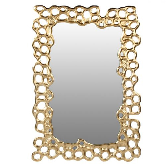 Bubble Wall Bedroom Mirror In Gold Frame