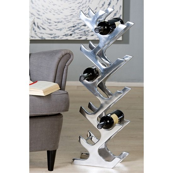 Read more about Buenos stylish wine rack stand in polished aluminium