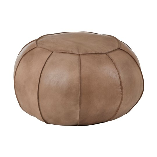 Australis Pouffe In Grey Tactile Leather