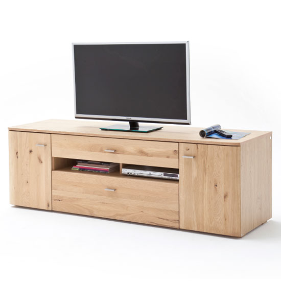 Buffalo Wooden Large TV Unit In Planked Oak