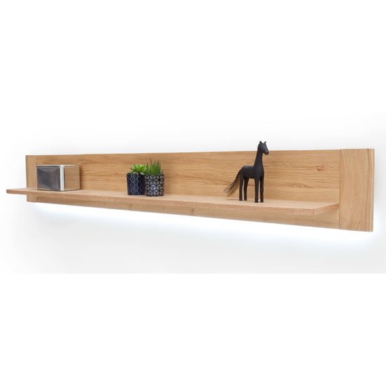 Buffalo Wooden Large Wall Shelf In Planked Oak