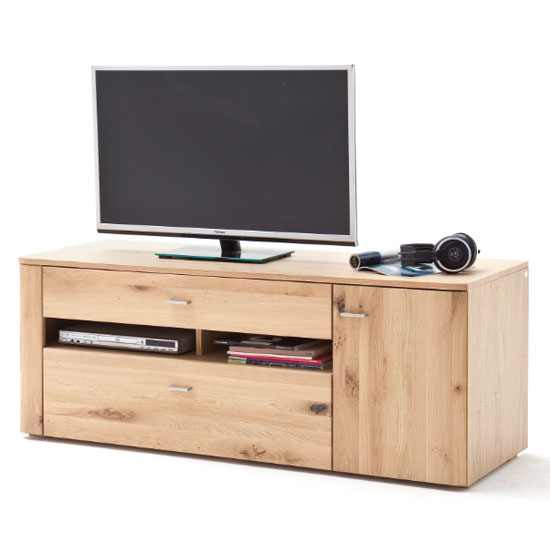 Buffalo Wooden Small TV Unit In Planked Oak