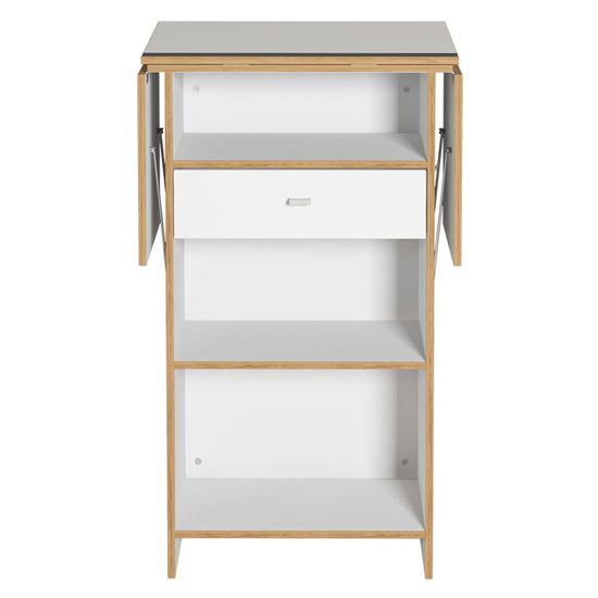 Buna Lecturn With Shelves In White And Navarra Oak_2
