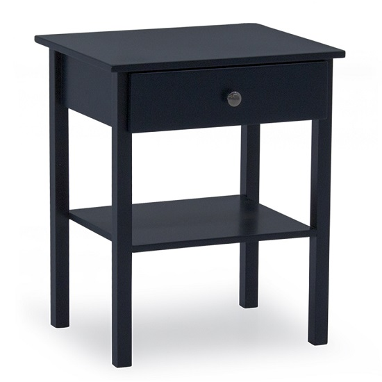 Buntin Wooden Bedside Cabinet In Blue Painted Finish