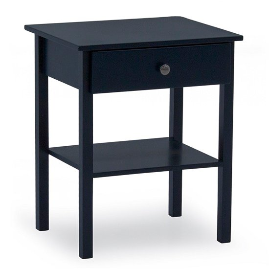 Buntin Wooden Bedside Cabinet In Blue Painted Finish_1