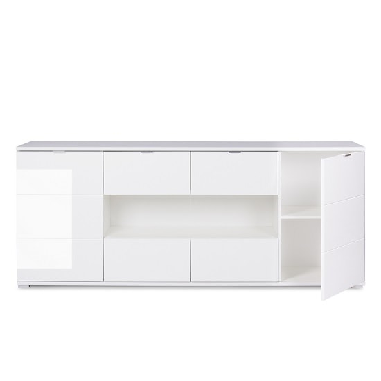 Burton Sideboard In White With High Gloss And 4 Doors_2
