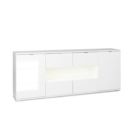 Burton Sideboard In White With High Gloss And 4 Doors_3