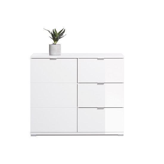Burton Compact Sideboard In White High Gloss_3