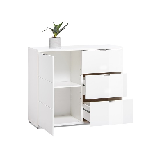 Burton Compact Sideboard In White High Gloss_5