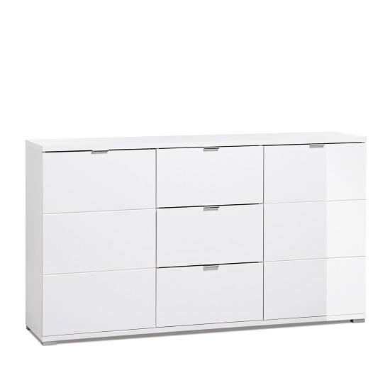 Burton Sideboard In White High Gloss With 2 Doors_1