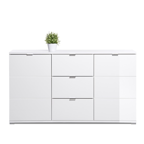 Burton Sideboard In White High Gloss With 2 Doors_3