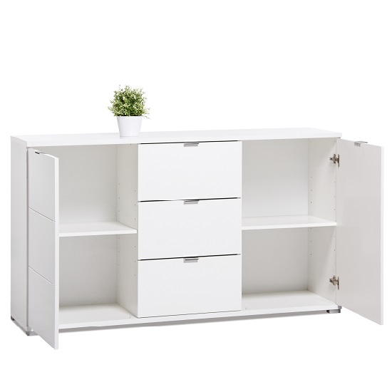 Burton Sideboard In White High Gloss With 2 Doors_2