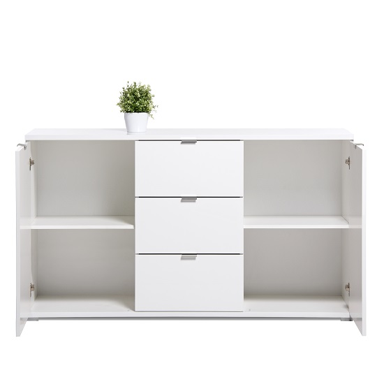 Burton Sideboard In White High Gloss With 2 Doors_4