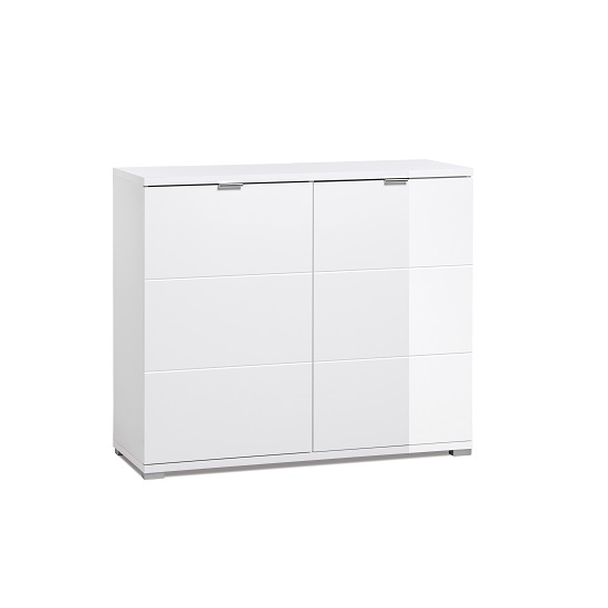 Burton Small Sideboard In White High Gloss With 2 Doors_1
