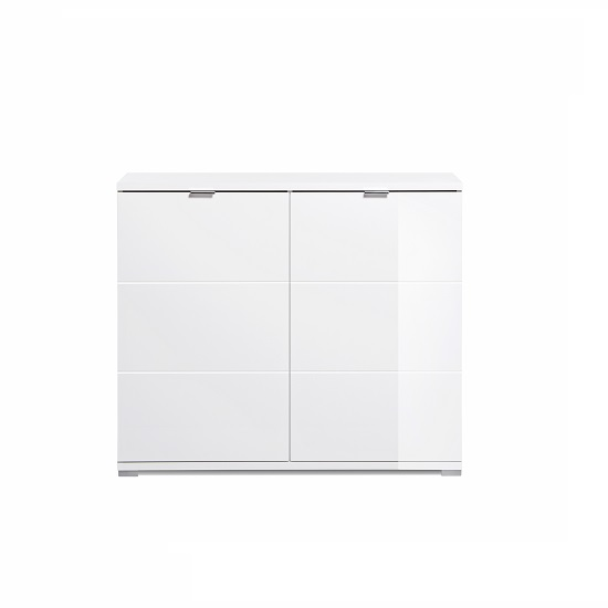 Burton Small Sideboard In White High Gloss With 2 Doors_3
