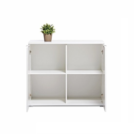 Burton Small Sideboard In White High Gloss With 2 Doors_2