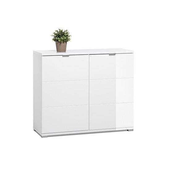Burton Small Sideboard In White High Gloss With 2 Doors_4