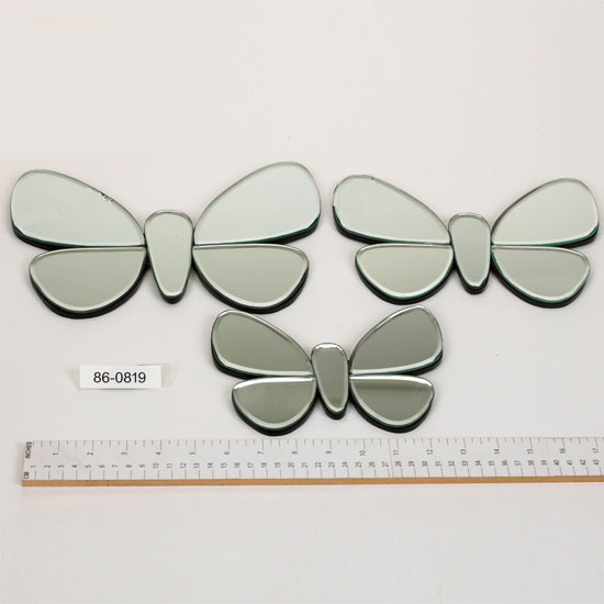 3 Piece Mirrored Butterfly Set