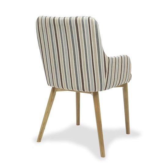 Astounding Cabalo Fabric Dining Chair In Stripe Duck Egg Blue In A Pair Cjindustries Chair Design For Home Cjindustriesco