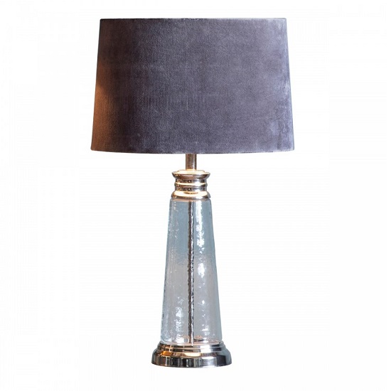 Caesaro Table Lamp With Grey Shade