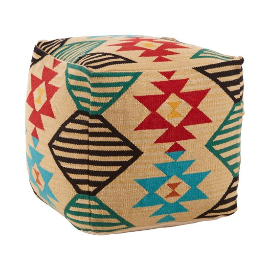 Cafenos Fabric Upholstered Pouffe In Assorted Colours