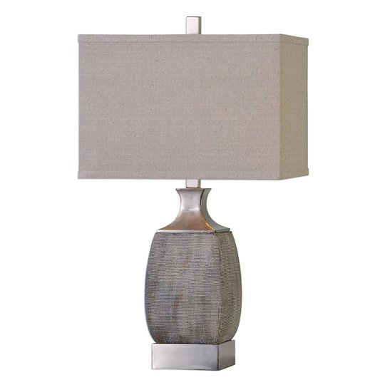Caffaro Textured Rust Bronze Table Lamp
