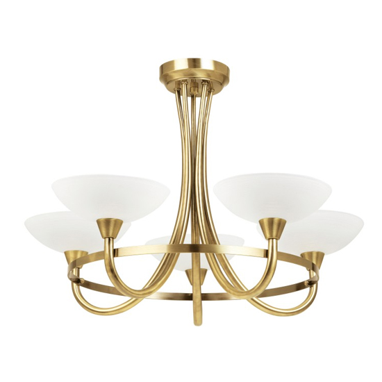 Cagney 5 Ceiling Lamp In Antique Brass