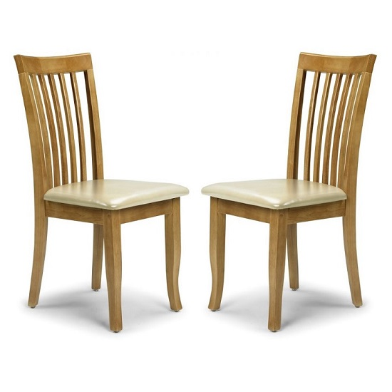 Cainsville Wooden Dining Chairs In Maple Lacquered In A Pair