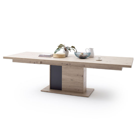 Calais Wooden Extending Dining Table In Planked Oak