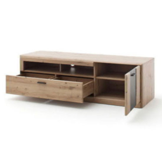 Calais Wooden Small TV Unit In Planked Oak_2