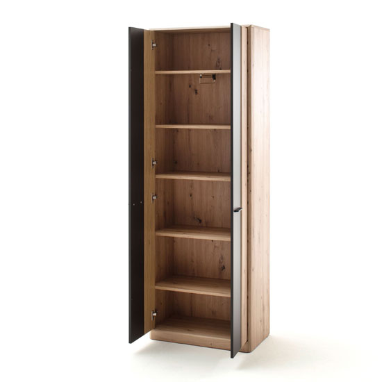 Calais Wooden Wardrobe In Planked Oak With 2 Doors_2