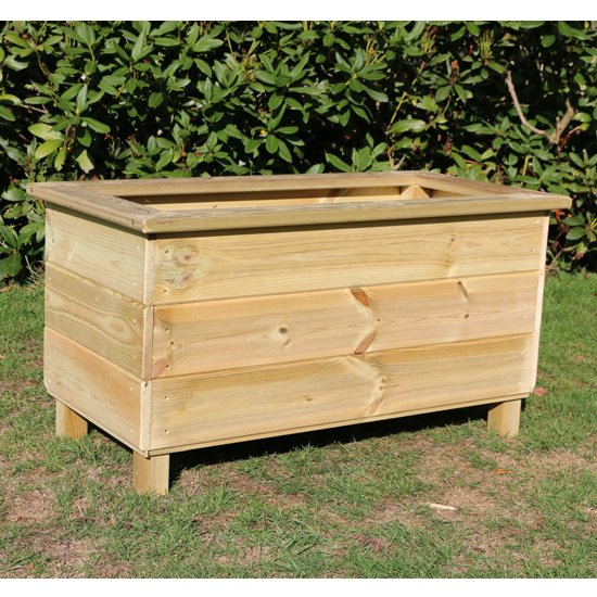 Caledonian Rectangular Wooden Planter_1