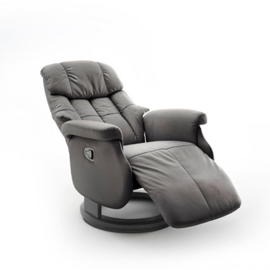 Calgary Comfort Leather Relaxer Chair In Grey And Black_2