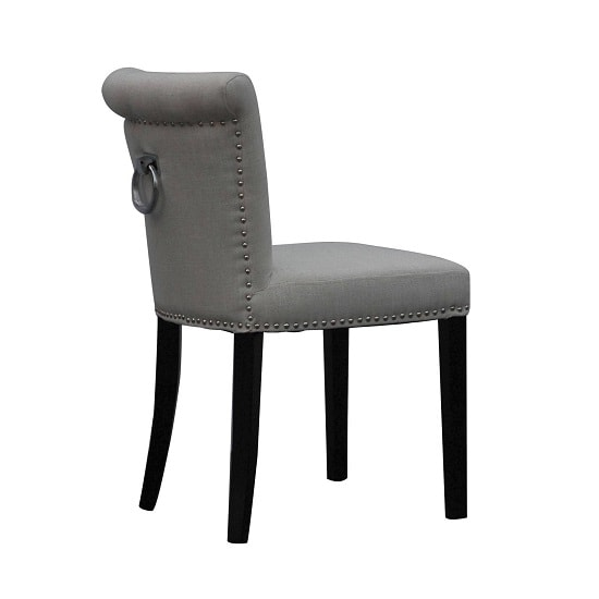 Calgary Fabric Dining Chair In Linen Effect Grey In A Pair_2