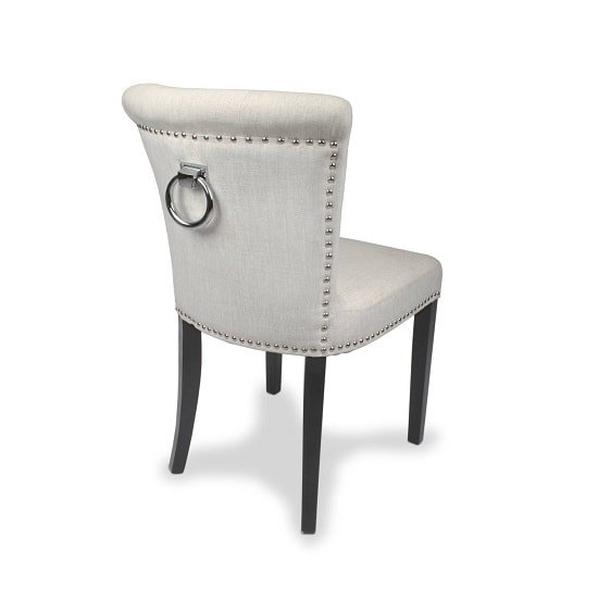 Calgary Fabric Dining Chair In Linen Effect Natural In A Pair_2