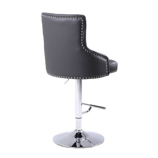 Calico Bar Stool In Graphite Grey With Polished Chrome Base_3