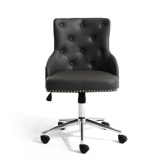 Calico Office Chair In Graphite Grey With Chrome Base_3