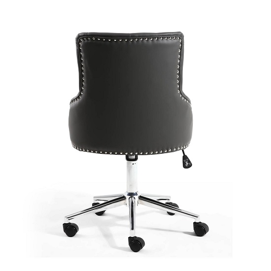 Calico Office Chair In Graphite Grey With Chrome Base_4