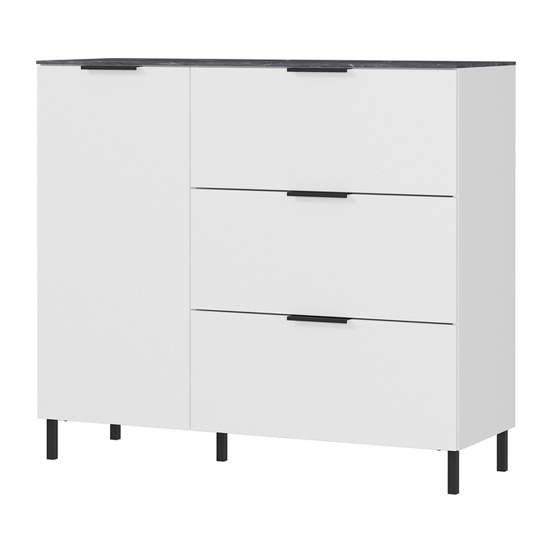 California Chest Of Drawers In White And Maple