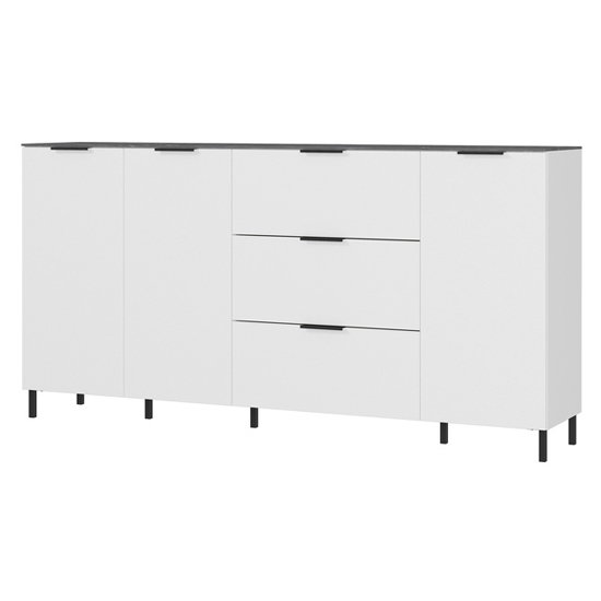California Large Sideboard In White And Maple