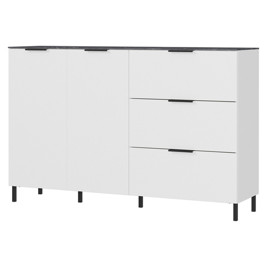 California Sideboard In White And Maple