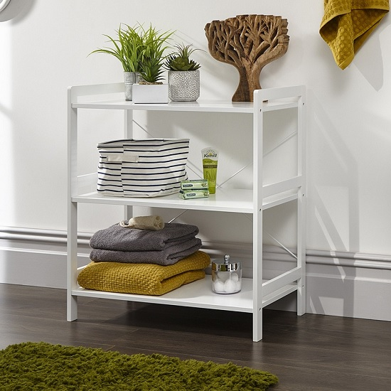 Calino Wooden 3 Tier Shelving Unit In White